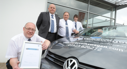 Vertu Motors Volkswagen colleague gets the recognition he deserves