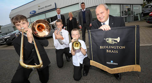 Bristol Street Motors Ford Morpeth supports brass band initiative