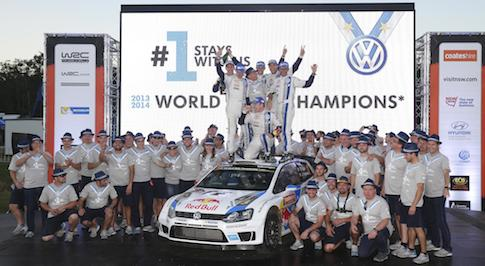 Volkswagen wins World Rally Championship (WRC) for second consecutive year