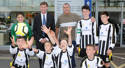 Bristol Street Motors Ford Stoke sponsors junior football team