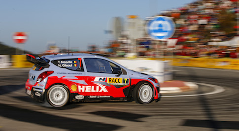 Hyundai Shell World Rally team finished Rally De Espa�a with all three cars in the top ten