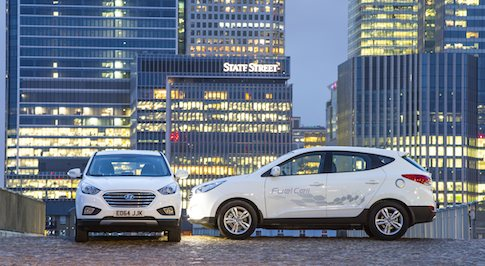 The first Hyundai hydrogen fuel cell cars reach the UK