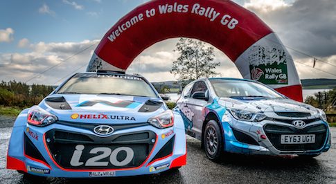 Top Gear take on Wales Rally GB in Hyundai i20
