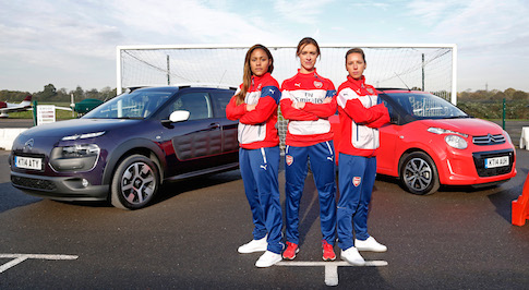 Citroen plays parking prank on Arsenal football stars