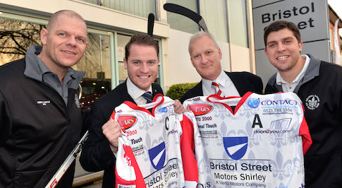 Bristol Street Motors Ford Shirley sponsors local ice hockey