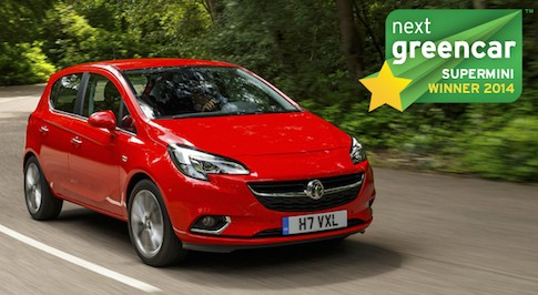 Vauxhall Corsa is the Next Green Car Awards Best Supermini