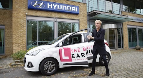 Made in Chelsea star Jamie Laing drives the streets of London