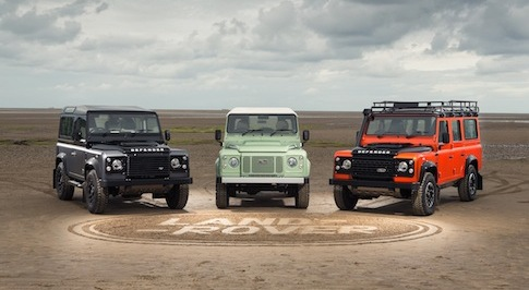 Land Rover celebrates legendary 4x4 by recreating 'Defender in the sand' in Anglesey