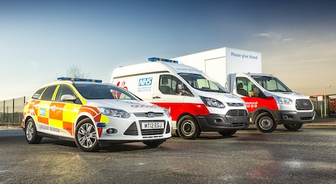 Ford Transit Custom joins the NHS Blood and Transplant service fleet