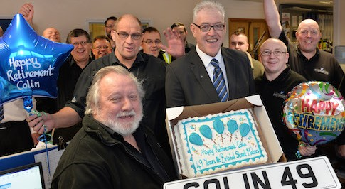 Loyal Bristol Street Motors colleague retires after 49 years service