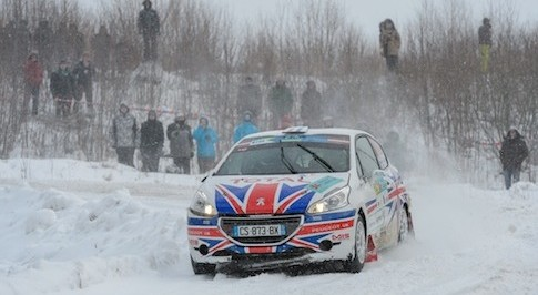 A strong start to ERC for Chris Ingram in Peugeot's 208 R2 rally car