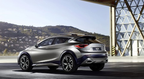 A sneak peak at the Infiniti QX30 concept