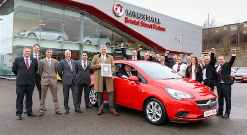 Bristol Street Motors Vauxhall Newcastle receives national customer service award