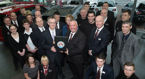 Bristol Street Motors Vauxhall Durham receives national customer service award