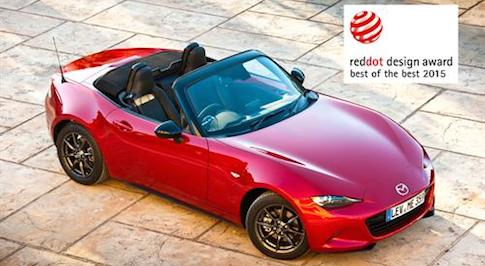 Three new Mazdas claim top Red Dot awards