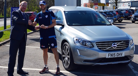 Bristol Street Motors Volvo Derby Keeps Cricket Star On the Move