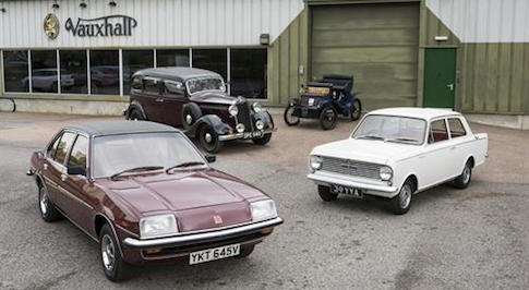 Vauxhall to showcase collection of heritage cars