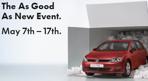 Vertu Volkswagen prepares for 'As Good As New' used car event