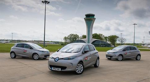 Farnborough Airport adopts Renault ZOE shuttle vehicles