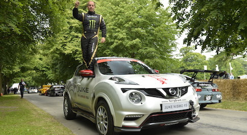 Terry Grant sets two-wheeled record in Nissan Juke NISMO RS