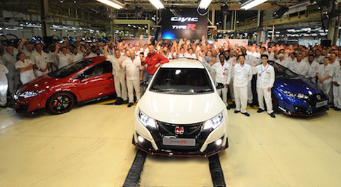 First Civic Type R models roll off the production line in Swindon