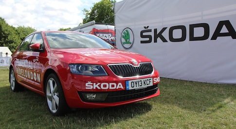 Skoda support cyclists at RideLondon event