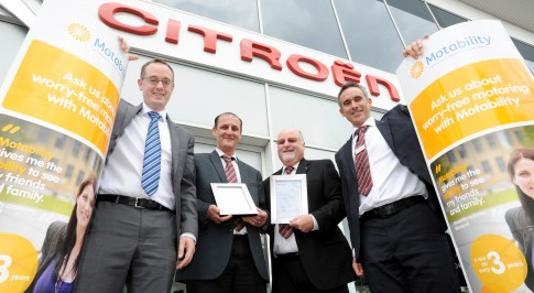 Bristol Street Motors Citroen recognised for excellent service in Motability