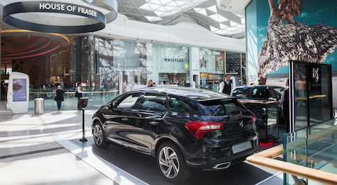 Visitors to Westfield London can discover more about DS Automobiles at the brand's display
