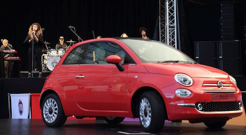 New Fiat 500 took to the stage with Ella Eyre at star-studded event