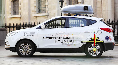 Hyundai UK celebrate 20th birthday by touring London in an ix35 Fuel Cell