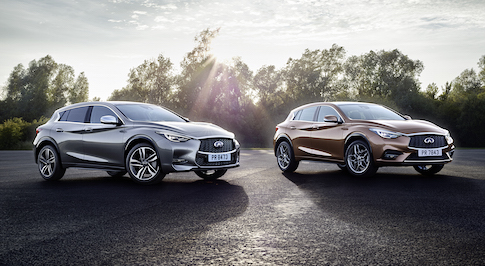 Infiniti Q30 Active Compact and Q30 City Black edition revealed in Europe