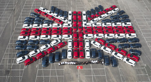 Vauxhall celebrates the seventh generation of the Astra with a giant Union Jack