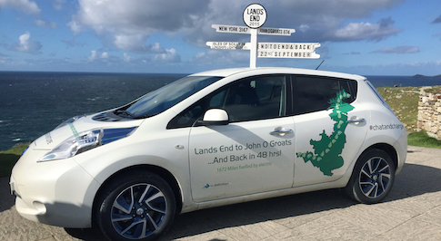 Pair drive a Nissan LEAF 1,652 miles, for free!