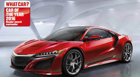 Honda NSX shortlisted for What Car? Reader award 2016