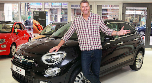 TV personality Dan Lobb takes delivery of his new Fiat 500X