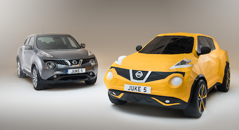 Life size origami Nissan Juke created to celebrate the crossover's fifth birthday
