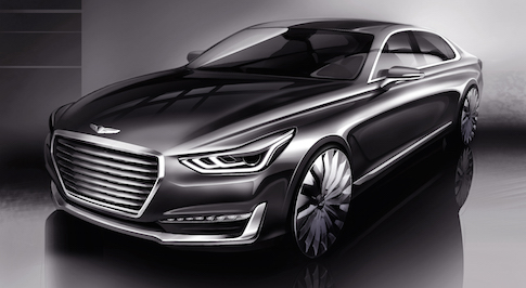 Hyundai unveils new G90 concept, pointing towards Genesis future