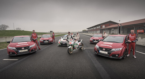 Honda demonstrates Civic Type R's race pedigree on two and four wheels