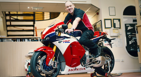 First ever Honda RC213V-S handover takes place at Honda's UK Racing Headquarters