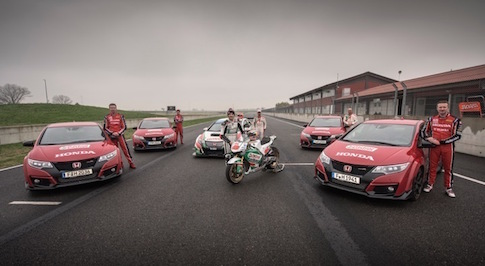 Honda Racing release 360 degrees race video